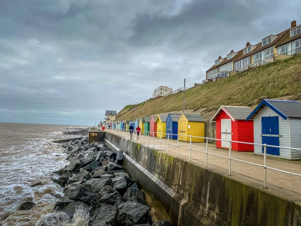 beach huts in sheringham