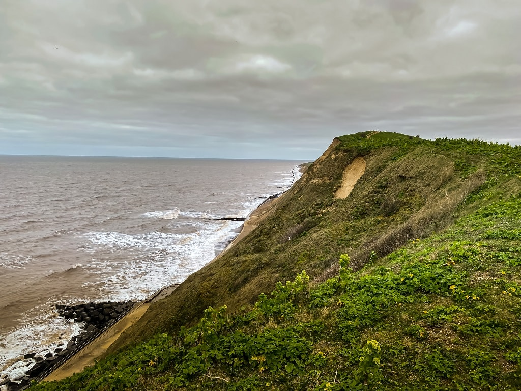 view of the north sea on the beeston bum walk