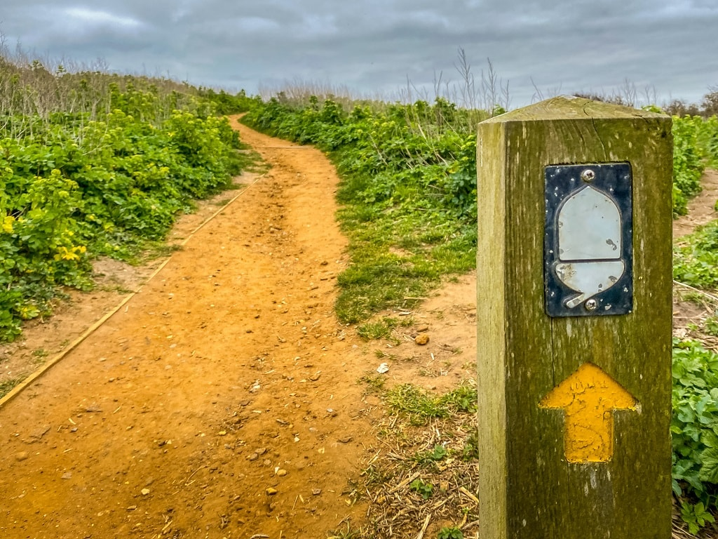 sign for England National trail on the Beeston Bump Walk