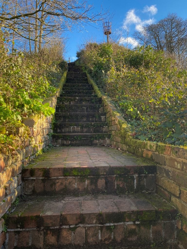stairs leading to the top of kett's heights