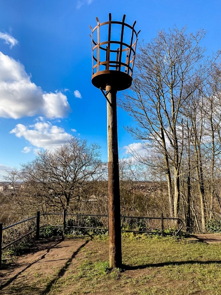 beacon by the viewpoint on kett's heights