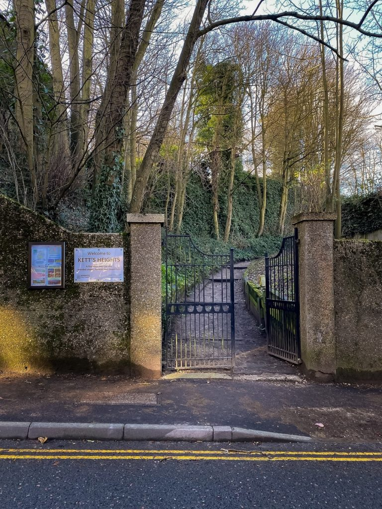Entrance gates for Kett's Heights