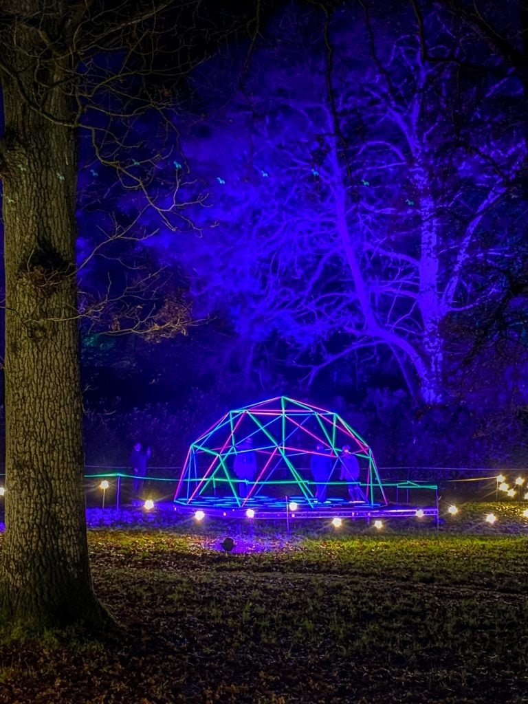 Colourful igloo at Sandringham Luminate