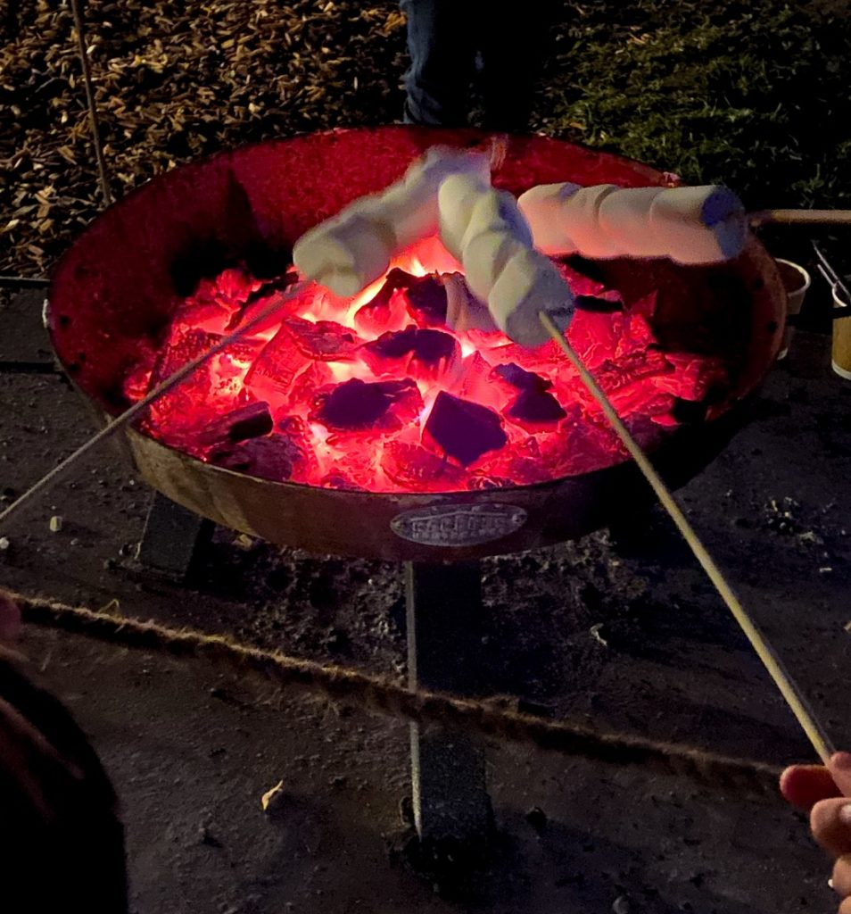 roasting marshmallows at sandringham luminate