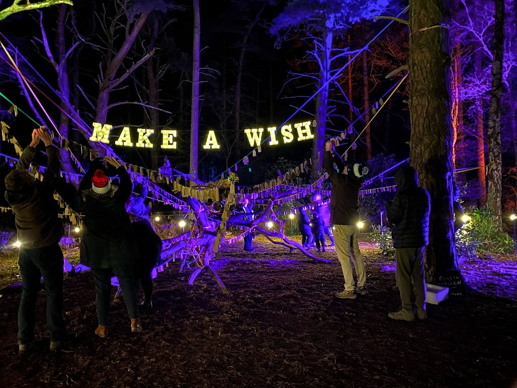 wishing tree at Sandringham Luminate