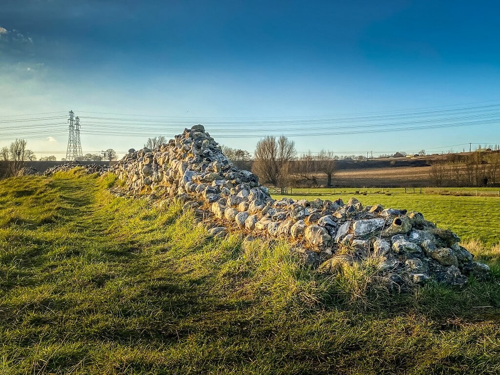 remains of wall around venta icenorum