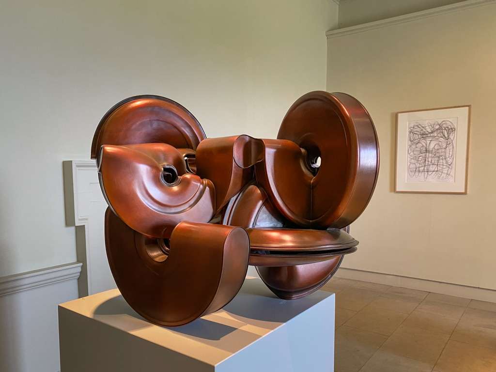 Tony cragg's artwork in the north wing colonade at Hougton Hall
