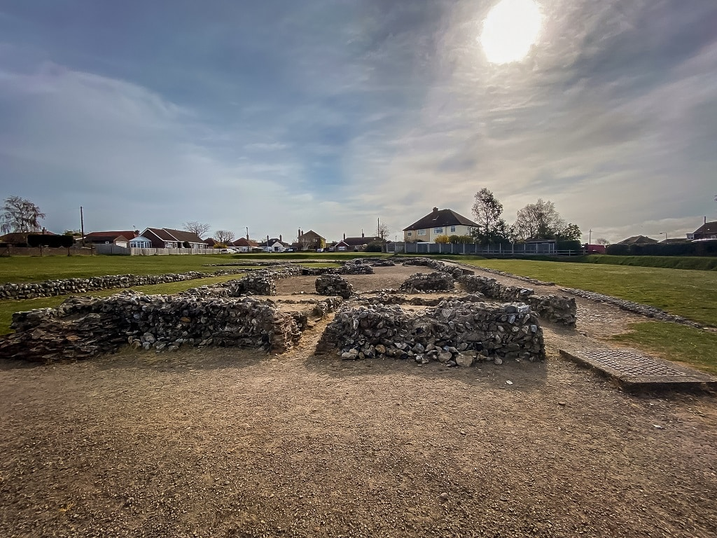 ruins of the caister roman fort