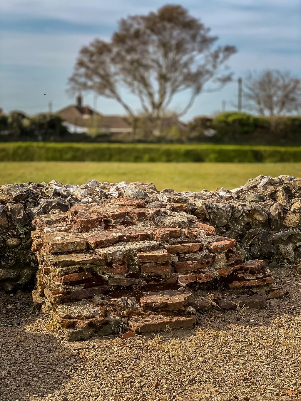 some of the ruins from caister roman fort