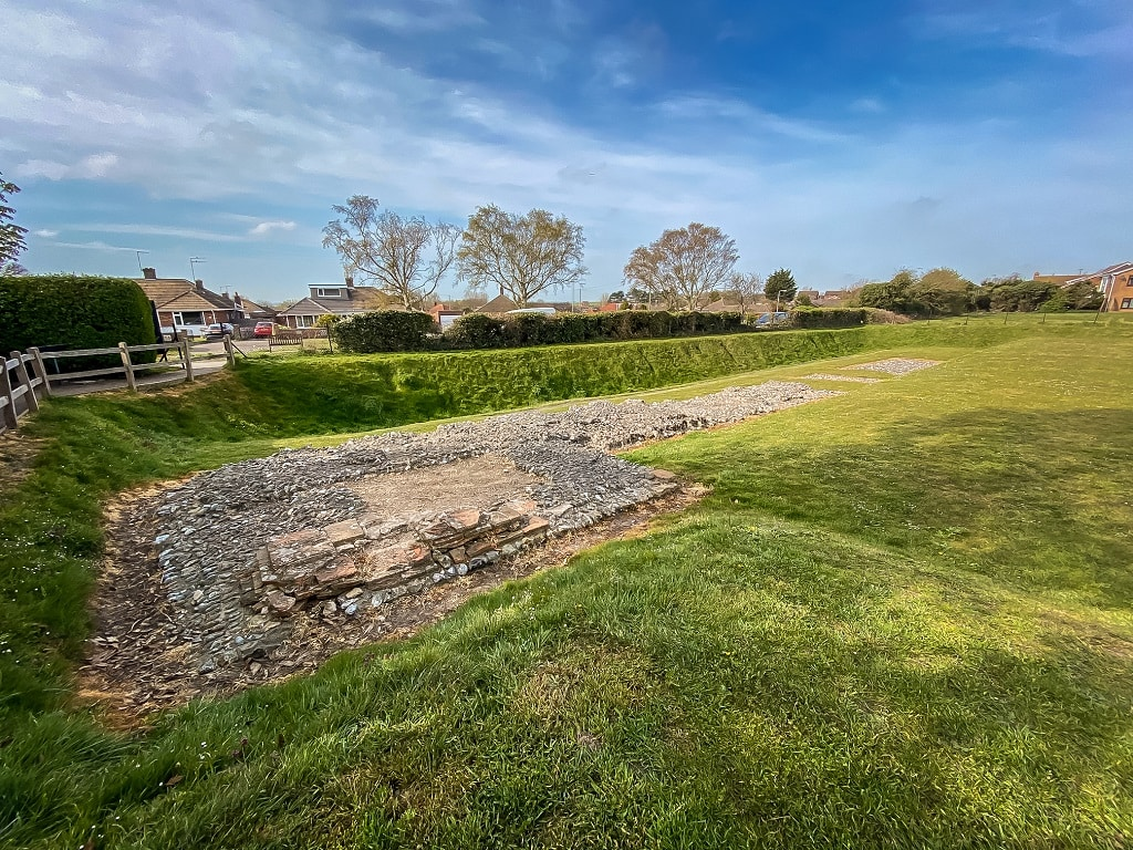 v shaped ditches at Caister fort