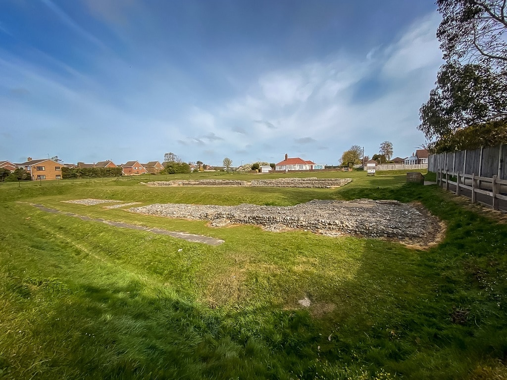 the view as you enter the caister roman fort