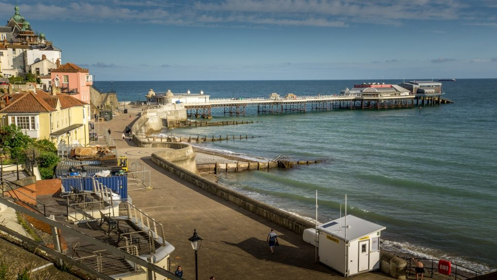 view of the cromer pier