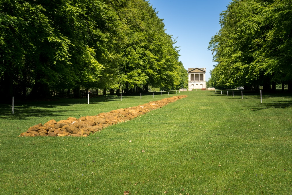 a line in norfolk at houghton hall