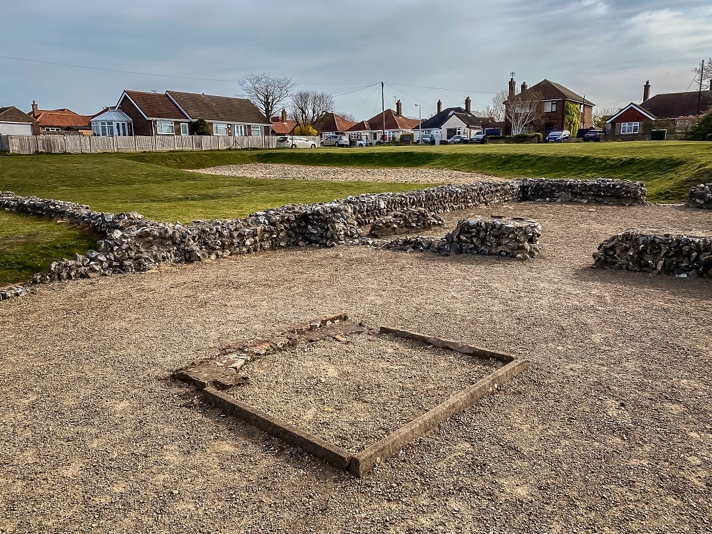 inside what is called building i at caister roman fort