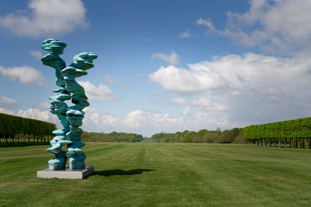 Houghton Hall hosted an exhibition of Tony Cragg's artwork, including the Runner pictured here.