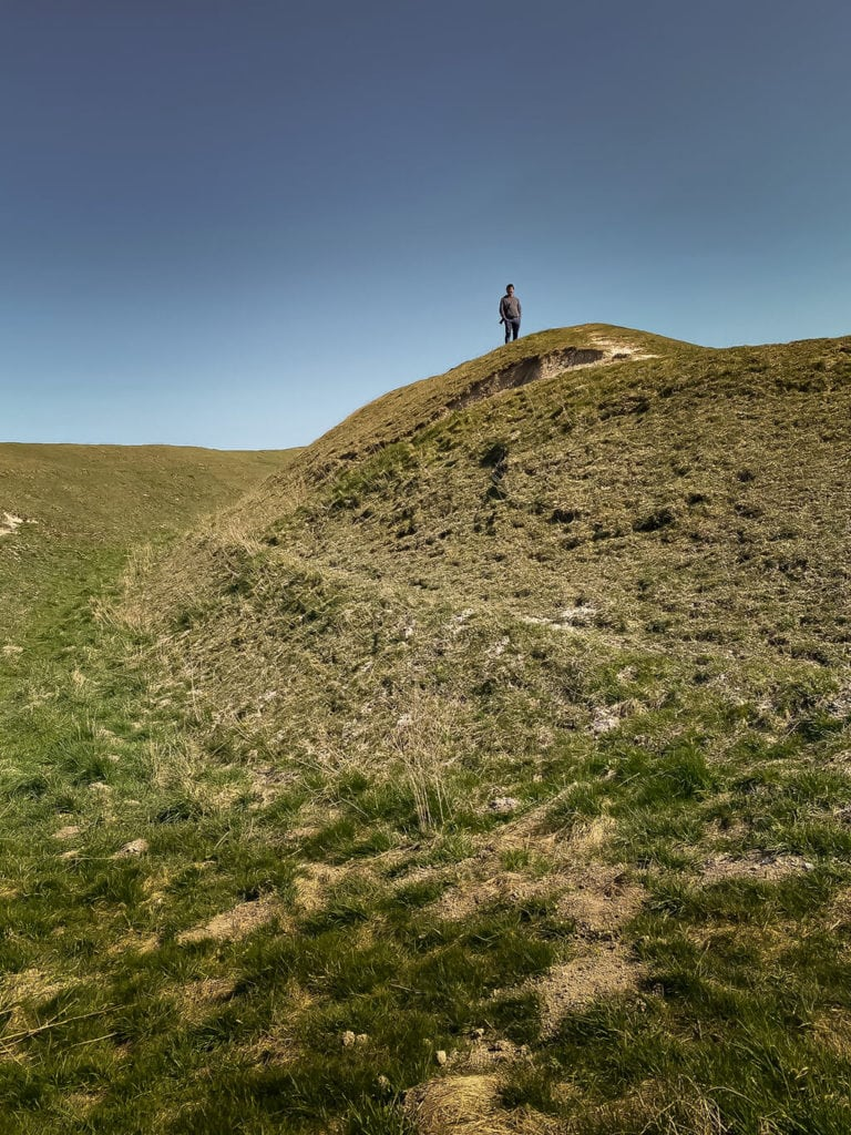 russell at warham camp hill fort