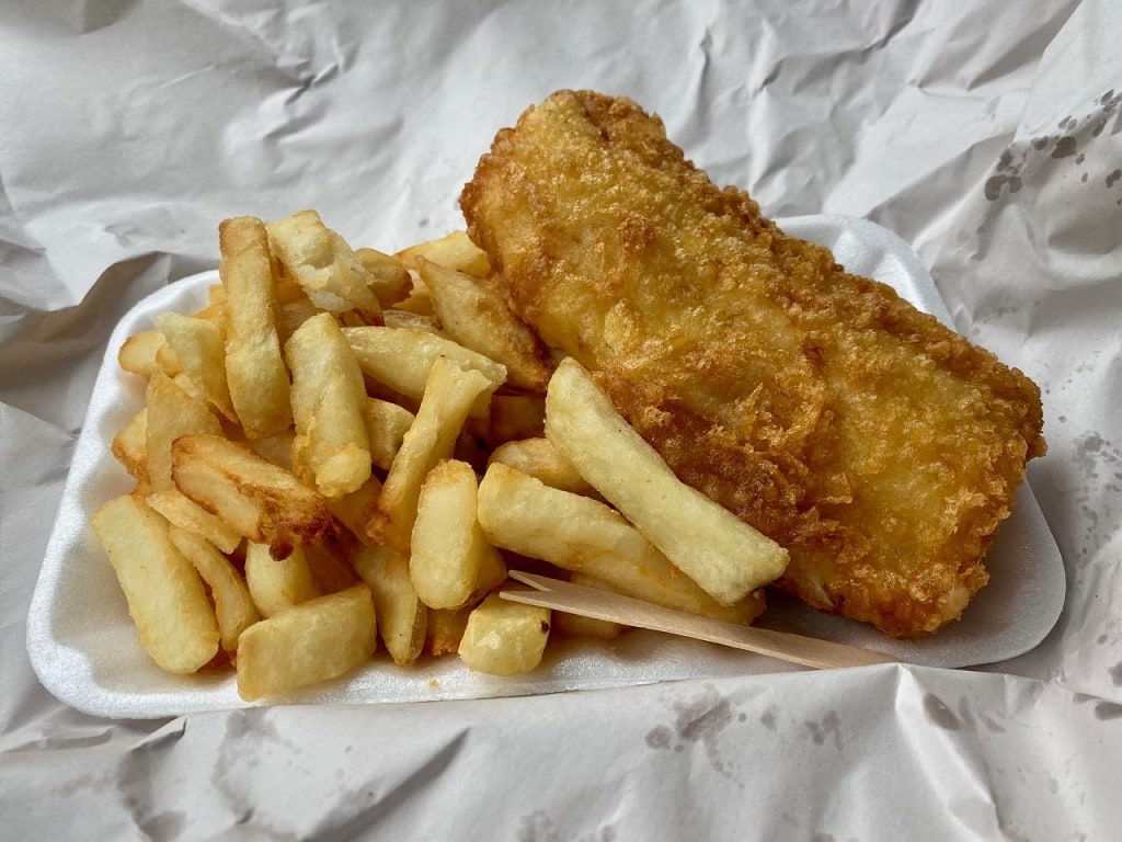 fish & chips from the Sheringham Trawler