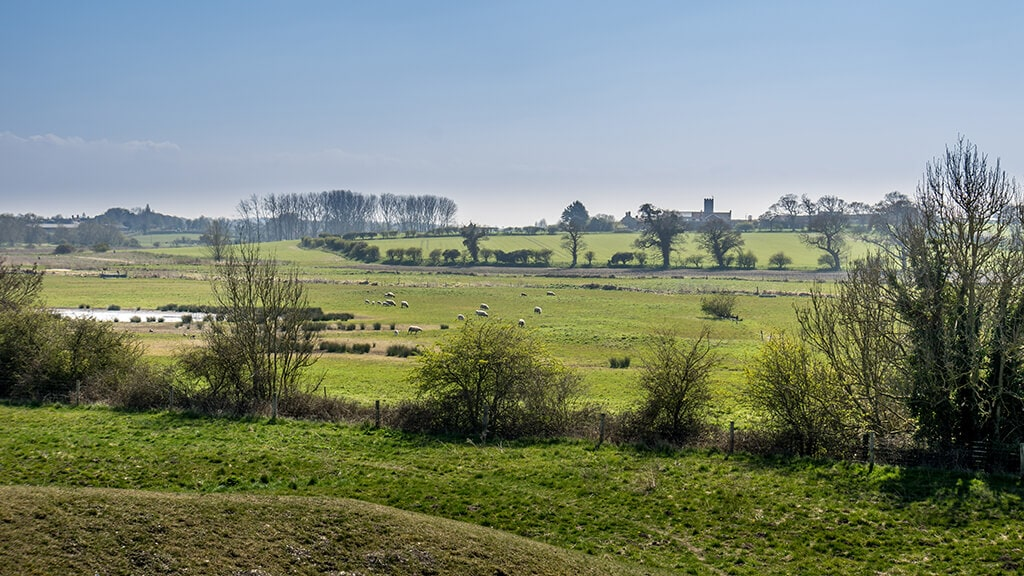 view from Warham Camp Fort