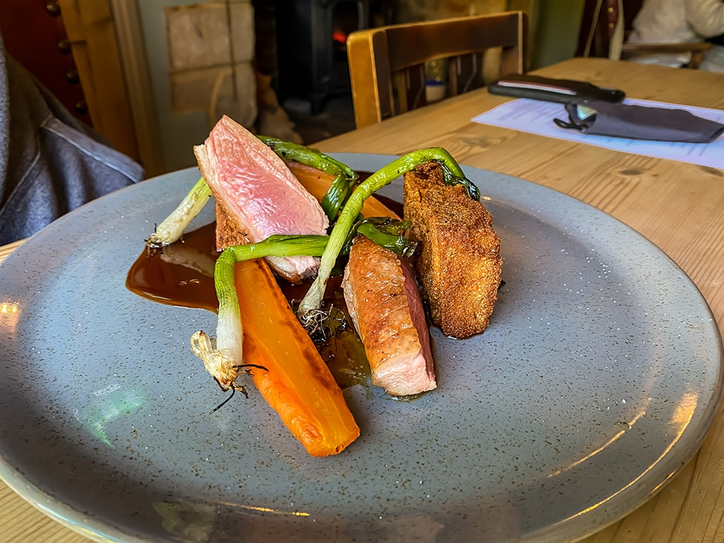 duck dish served at the dabbling duck pub
