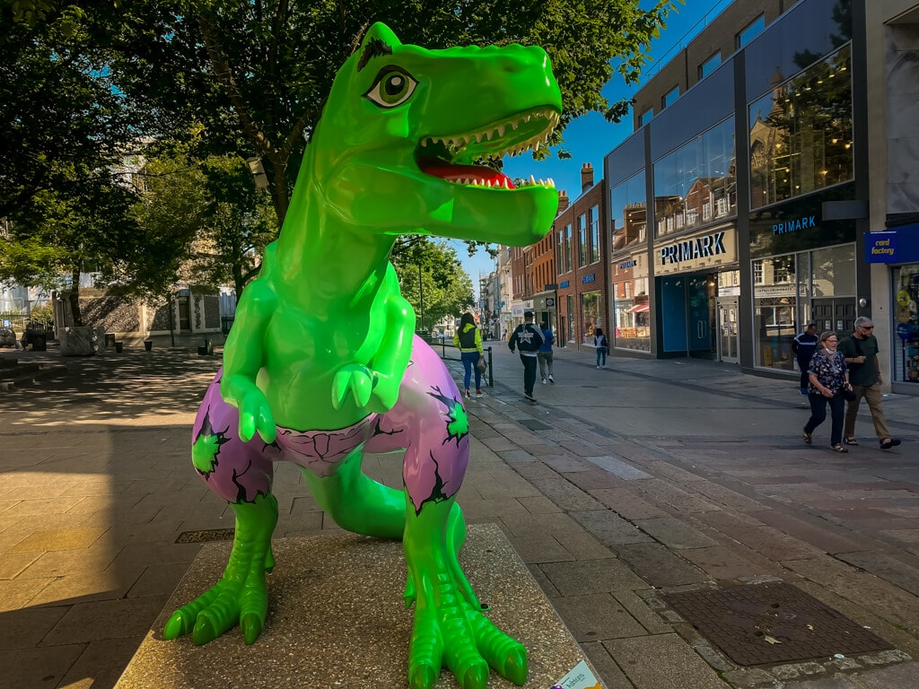 hulkasaurus from the gogodiscover trex trail in norwich