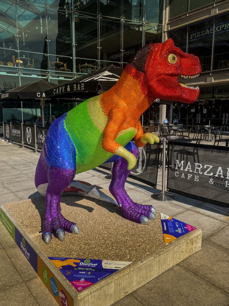 prideasaurus from the gogodiscover trex trail in norwich