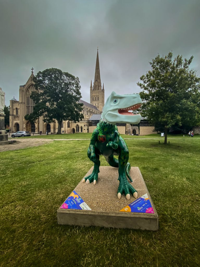 tyra-norvy saurus from the gogodiscover trex trail in norwich
