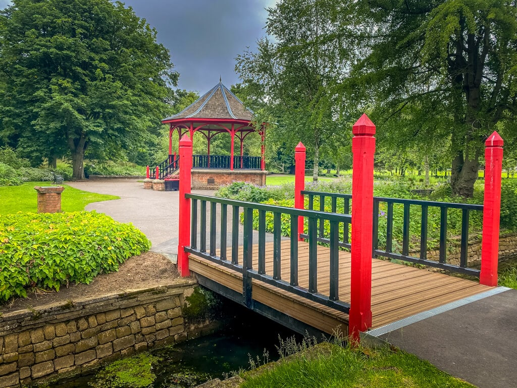 bandstand at the walks in Kings Lynn