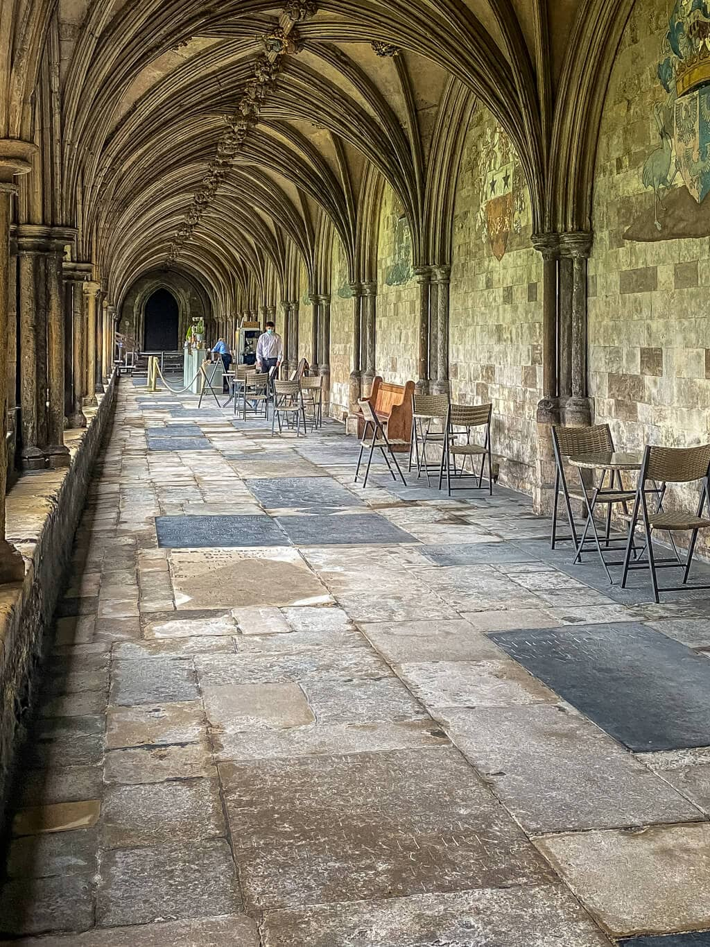 food is served in the cloisters while dippy is at norwich cathedral