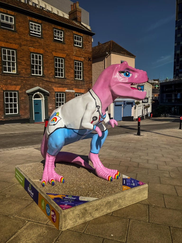 doctorasaurus from the gogo discover trex trail in norwich