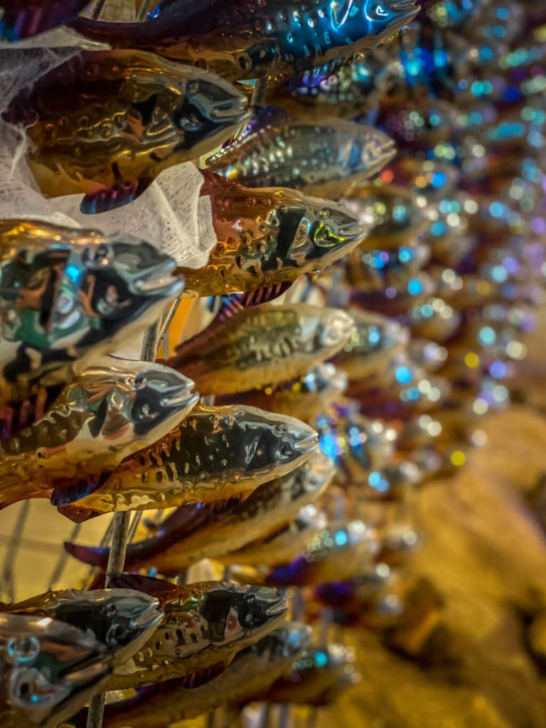 """fish for the """"Your Waves Go Over Me"""" art installation at Norwich Cathedral"""