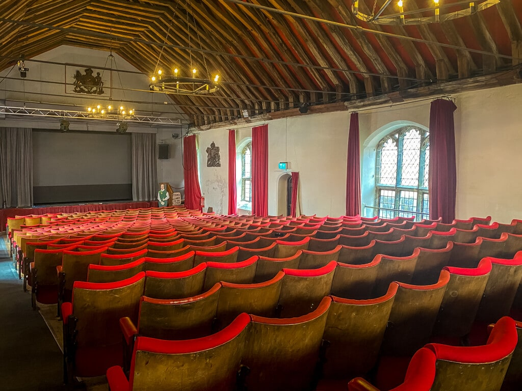 theatre inside st george's guildhall in King's Lynn where Shakespeare performed