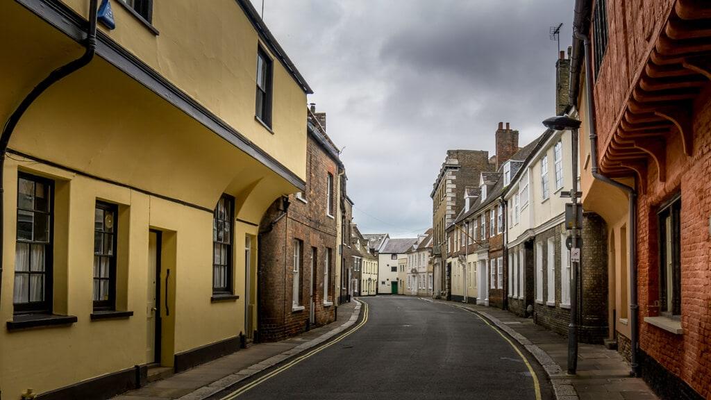 picturesque nelson street in king's lynn