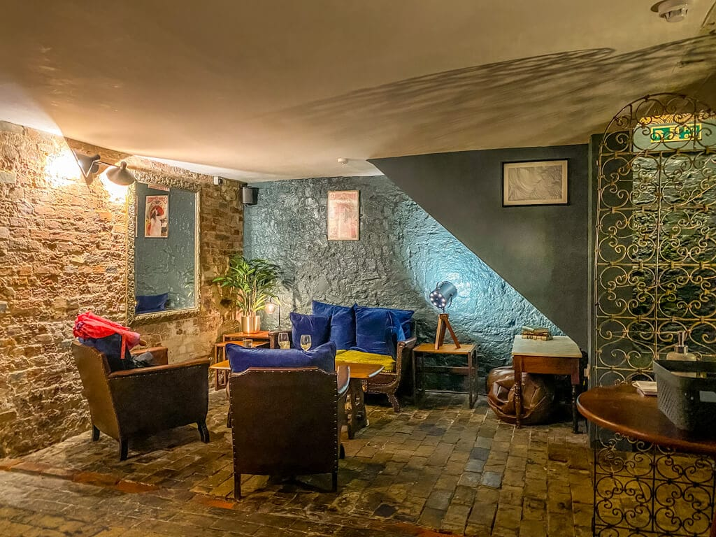 seating area downstairs at the Wallow in Norwich
