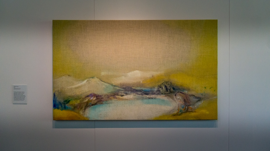 landscape painting called yellowscape by leiko ikemura