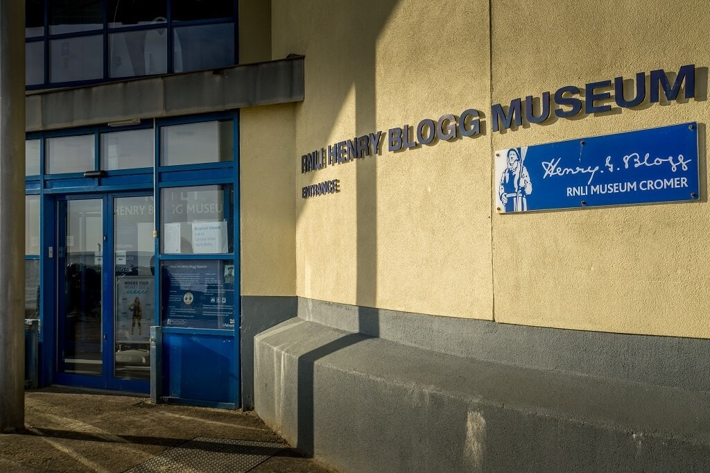 entrance to the Henry Blogg Museum in Cromer
