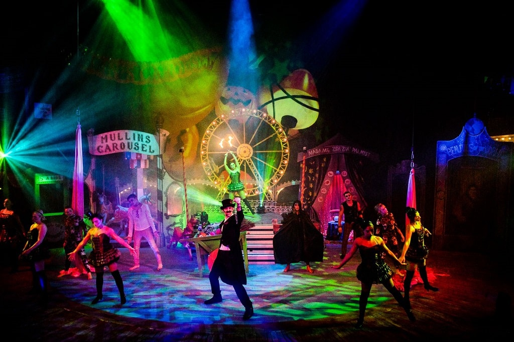 halloween-themed circus at the hippodrome in great yarmouth